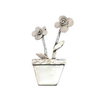 large plant pot brooch