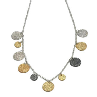 Saphirim Rahav Multi Disk Necklace