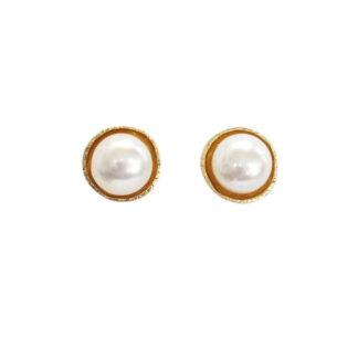 Saphirim Rahav Gold Plated Pearl Studs