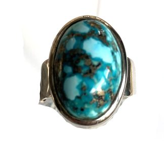 persian turquoise ring set in sterling silver