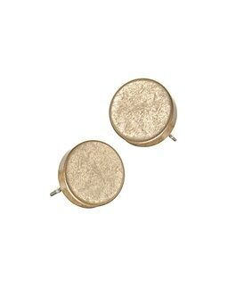 Hot Tomato Earrings LF389 Pill Bead Studs - Worn Gold