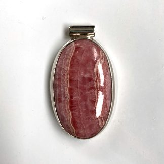 Rhodocrosite Pendant set in Sterling Silver