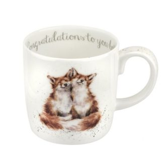 Wrendale Designs Large 'Congratulations To You Both' Fox Mug