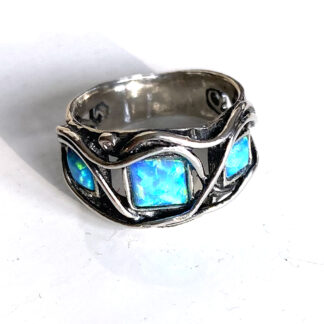 Triple Opalite Sterling Silver Ring