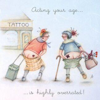 Berni Parker Designs 'Acting Your Age...'