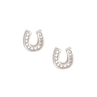 Cz Horse Shoe Stud Earrings