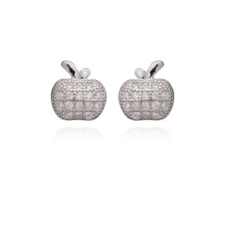Cz Apple Stud Earrings