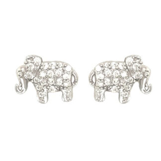 Cz Elephant Stud Earrings