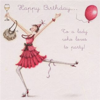 Berni Parker Designs 'Happy Birthday To a Lady Who Loves to Party!'