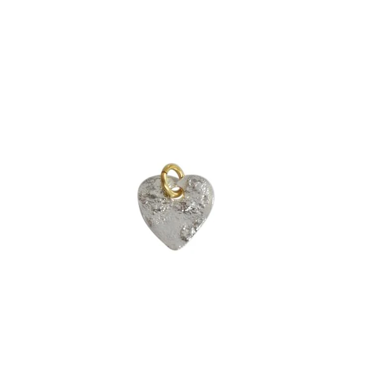 Saphirim Rahav Silver Hammered Heart Pendant