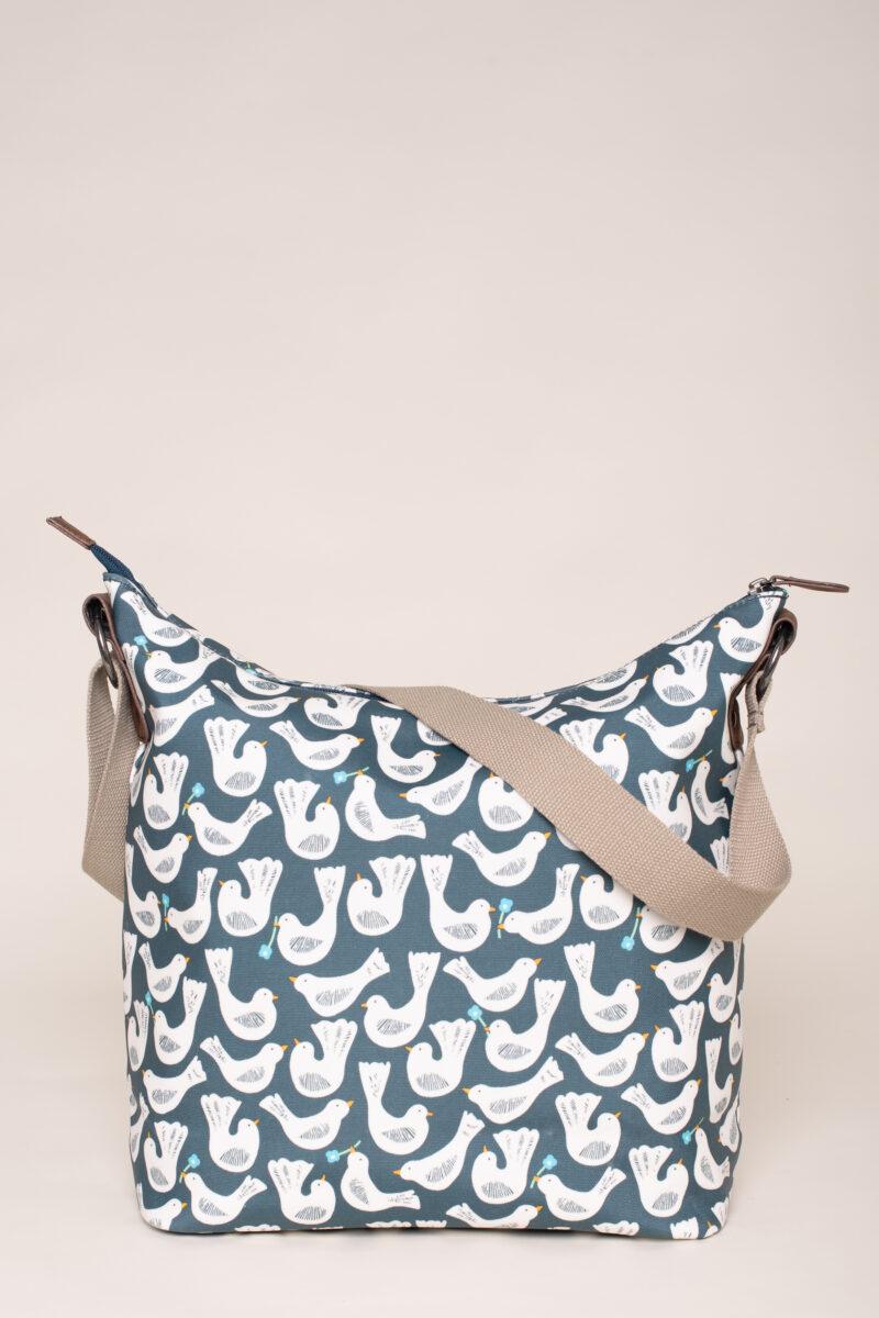 Geo Birds Hobo Bag