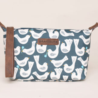 Geo Birds Small Wash Bag