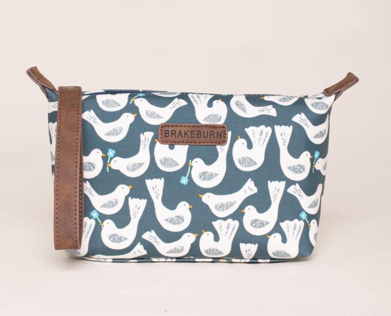 Geo Birds Small Wash Bag