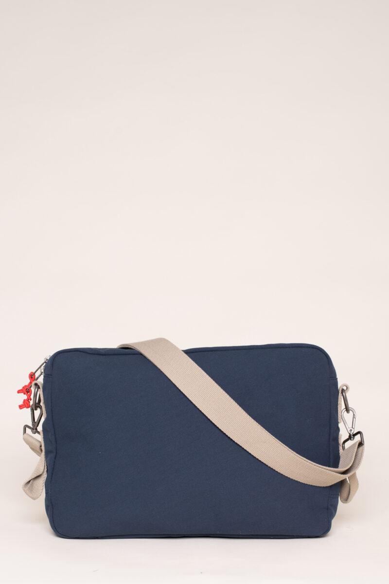 Navy Messenger Bag
