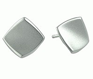Square Polish Stud Earrings