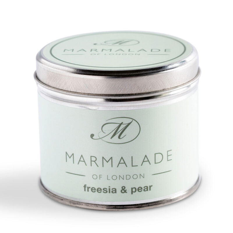 Marmalade Of London Freesia & Pear Medium Tin Candle
