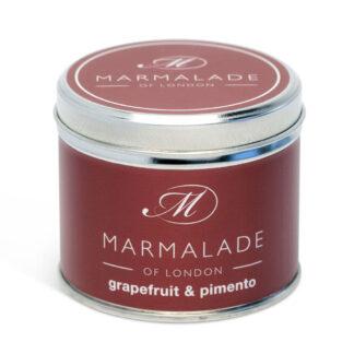 Marmalade Of London Grapefruit & Pimento Medium Tin Candle