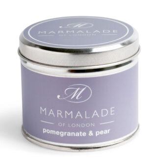 Marmalade Of London Pomegranate & Pear Medium Tin Candle