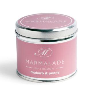 Marmalade Of London Rhubarb & Peony Medium Tin Candle