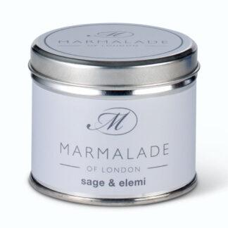 Marmalade Of London Sage & Elemi Medium Tin Candle