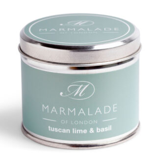 Marmalade Of London Tuscan Lime & Basil Medium Tin Candle