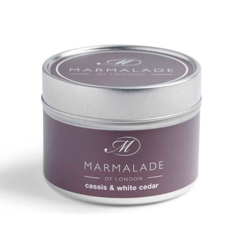 Marmalade Of London Cassis & White Cedar Small Tin Candle