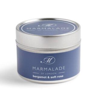 Marmalade Of London Bergamot & Soft Rose Small Tin Candle