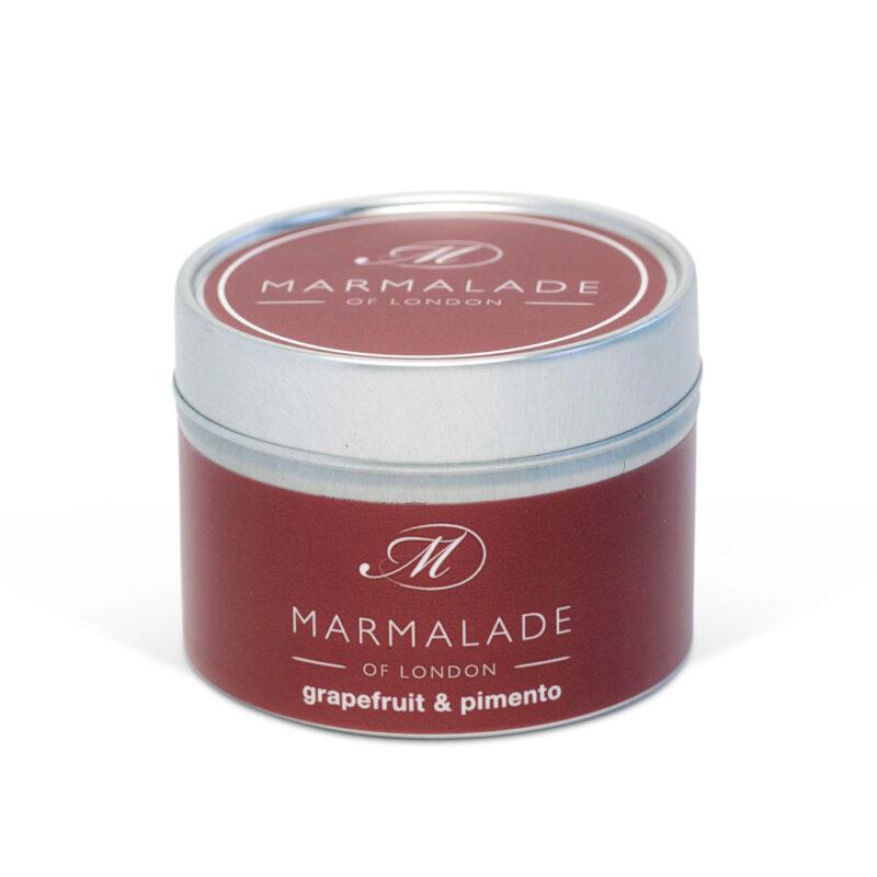 Marmalade Of London Grapefruit & Pimento Small Tin Candle