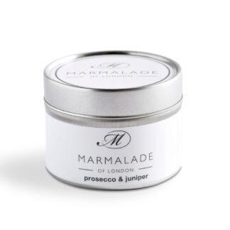 Marmalade Of London Prosecco & Juniper Small Tin Candle