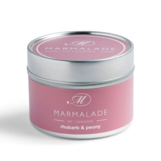 Marmalade Of London Rhubarb & Peony Small Tin Candle