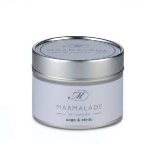 Marmalade Of London Sage & Elemi Small Tin Candle