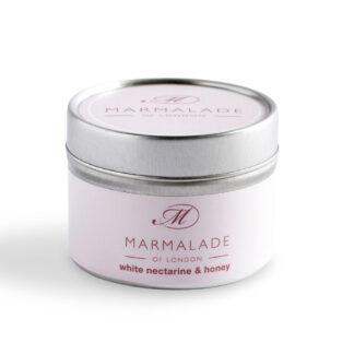Marmalade Of London White Nectarine & Honey Small Tin Candle